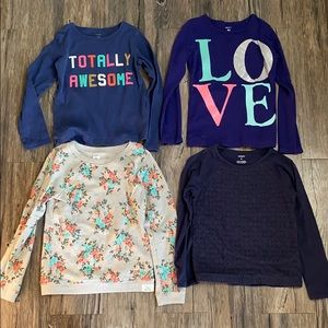 Lot of 4 girls Carter long sleeve shirts